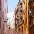 Ordinary street of europetown. Tarragona — Stock Photo #38414417