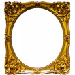 Stock Photo: Oval gold picture frame