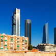 View of Madrid with Cuatro Torres Business Area — Stock Photo #38415021