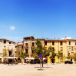 Stock Photo: Panoramof town square. Besalu