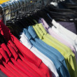 Shirts on hanger — Stockfoto