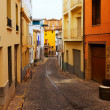 Stock Photo: Narrow street of Sagunto, Valencian Community