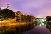 Night view of of Girona — Stock Photo