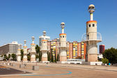 Parc de Espanya Industrial in summer day — Stock Photo