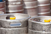 Aluminum barrel beer kegs — Stock fotografie