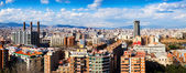 Panoramic view of Barcelona in cloudy day — Stockfoto