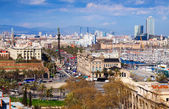 View of Barcelona city — Stock Photo