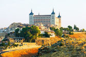 View of Alcazar of Toledo in sunny morning — Stock Photo