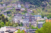 Residence district at mountains. Andorra la Vella — Stock Photo