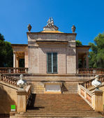 Neoclassical pavilion at Labyrinth Park of Horta — Stock Photo