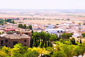 General view of Belmonte with fields — Stock Photo