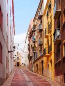 Ordinary street of european town. Tarragona — Stock Photo