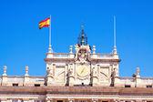 Closeup of facade of Royal Palace in Madrid — Stock Photo