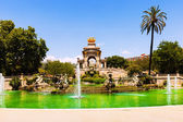 Cascada fountain at Parc de la Ciutadella — Stock Photo