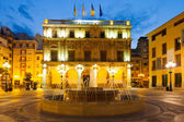 City Hall at Castellon de la Plana in night — Stockfoto