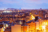 Night view of Barcelona from Badalona municipality — Stock Photo