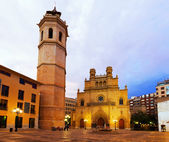 Fadri tower and Gothic Cathedral. Castellon de la Plana — Stock Photo