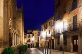 Night view of old street. Toledo — Stock Photo