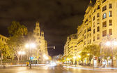 City street in night. Valencia, Spain — Stock Photo
