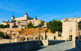 Alcazar of Toledo from Puente of Alcantara — Zdjęcie stockowe