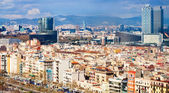 View of Barcelona in cloudy day — Stock Photo