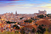 Toledo from hill in summer morning — Stok fotoğraf