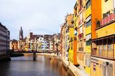 River at Girona in day time — Stock Photo