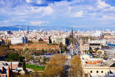 Aerial view of historic district at Barcelona — ストック写真