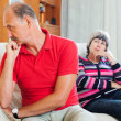 Mature couple after quarrel — Stock Photo #38555535