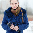 Winter portrait of beautiful woman — Stock Photo
