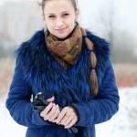 Winter portrait of beautiful woman — Stock Photo