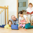 Multigeneration family at home — Stock Photo #38693853