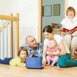 Multigeneration family at home — Foto de Stock