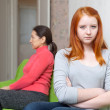 Mother and teen daughter having conflict — Stock Photo
