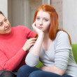 Mother tries reconcile with teen daughter — Stock Photo #38694245