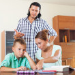 Parents berates her underachiever son — Stock Photo