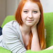 Stock Photo: Teenager girl at home