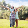 Happy couple with teenage son — Stock Photo #38694791