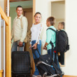 Happy family going on holiday — Stock Photo #38695015
