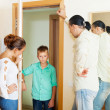Stock Photo: Parents scold son, who later returned home