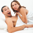 Stock Photo: Middle-aged couple caught in bed