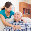 Stock Photo: Smiling senior man with happy wife