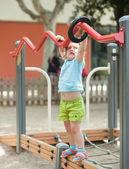 Three-year child at playground area — Stock Photo