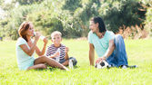 Enjoying time together outdoor — Stock Photo