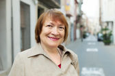 Portrait of european mature woman — Stock Photo