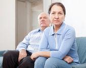 Senior couple having problems — Stock Photo