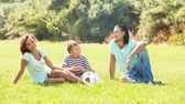 At city park in summer — Stock Photo