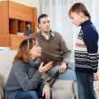 Mother and father scolding teenager — Stock Photo #40789673