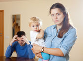 Family with child having conflict — Stock Photo