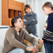 Parents scolding son in home — Stock Photo #40790175
